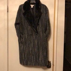 Winter tweed coat.